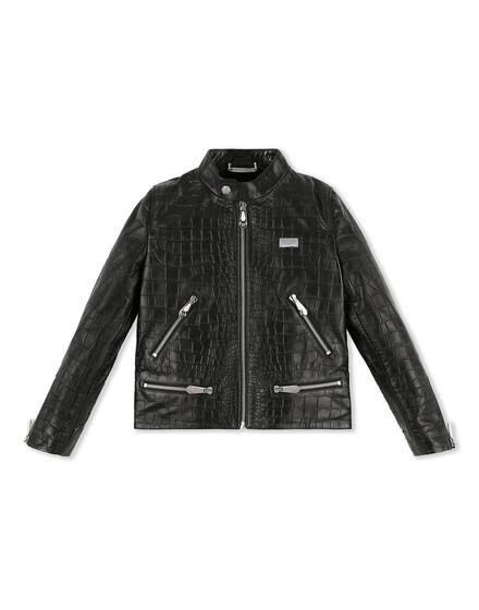 Leather Moto Jacket Logos