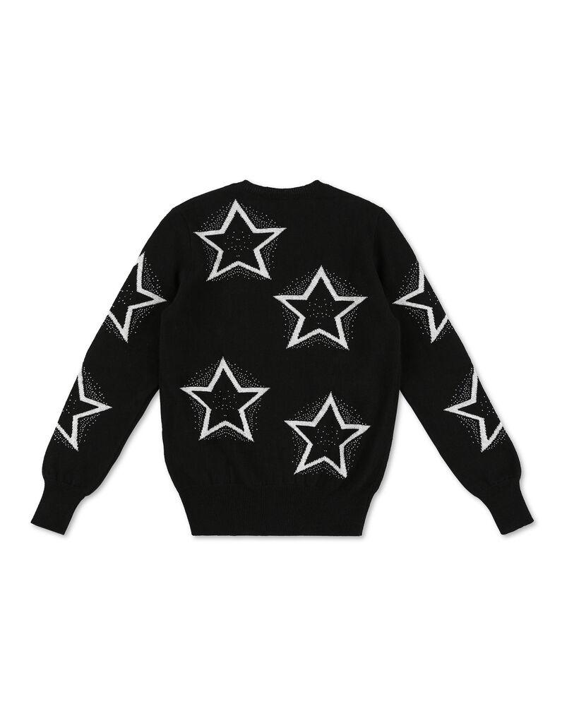Pullover Round Neck LS Stars