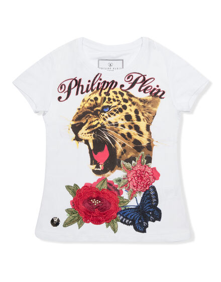 T-shirt Round Neck SS Crystel but tiger