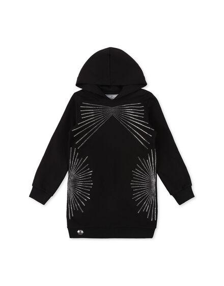 Hoodie sweatshirt Crystal Plein