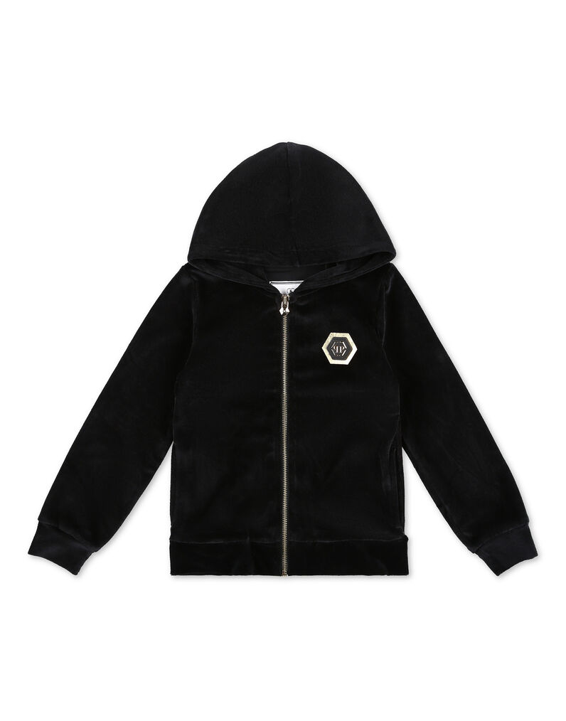 Hoodie Sweatjacket Skull and Plein