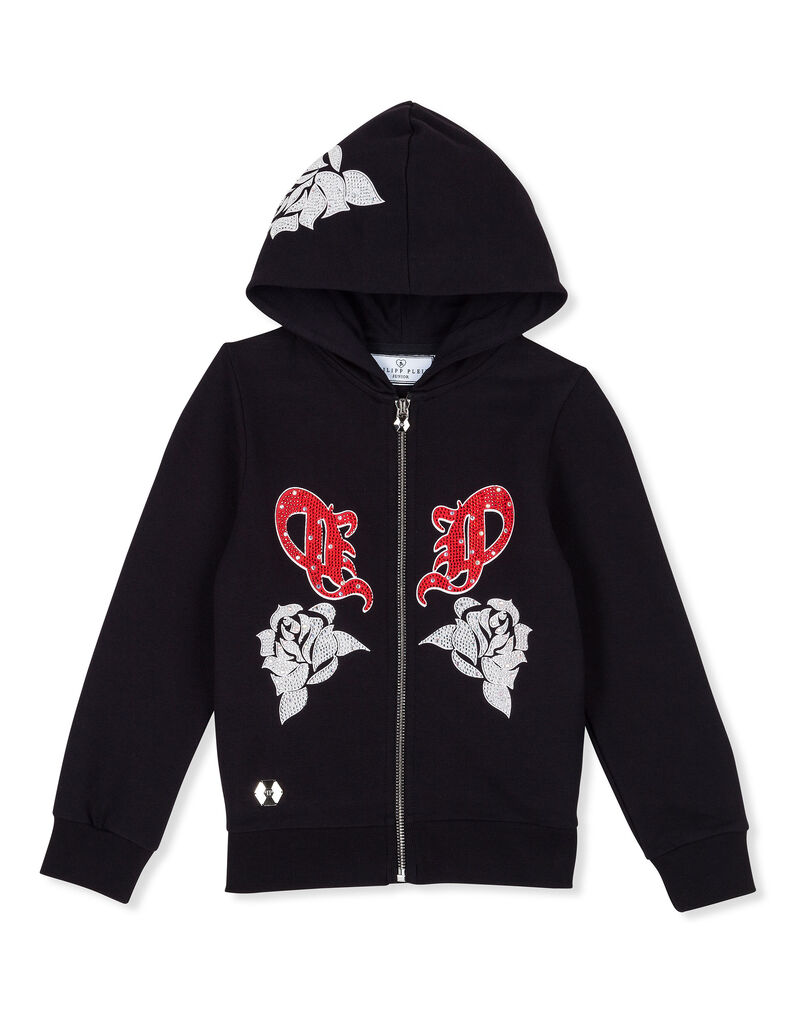 "Hoodie Sweatjacket ""Rose girl P"""