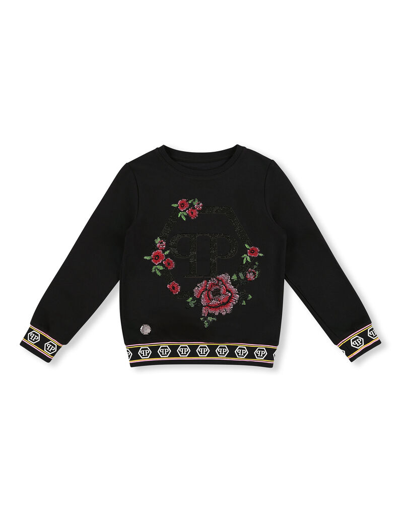 Sweatshirt LS Flowers