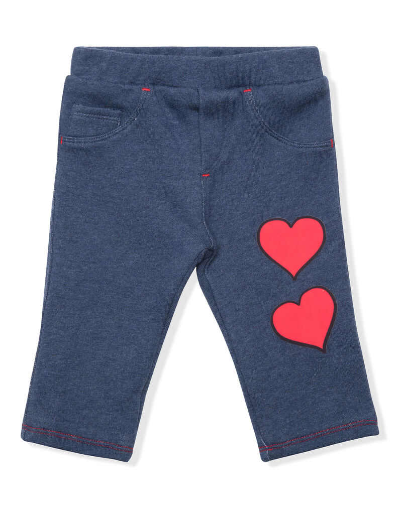 "Knit Jogging Trousers ""Hearts"""