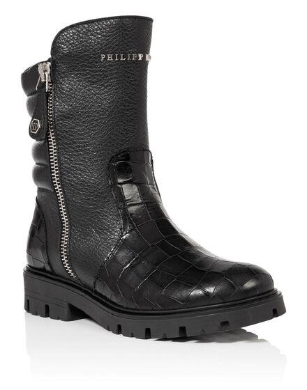 Boots Low Flat elkan