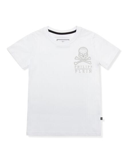 T-shirt Round Neck SS Simple Skull