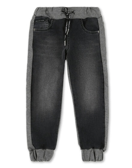 Denim Jogging Trousers Skull