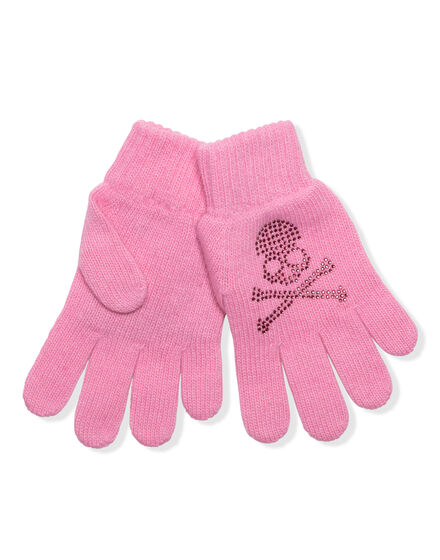 Mid-Gloves Skull strass