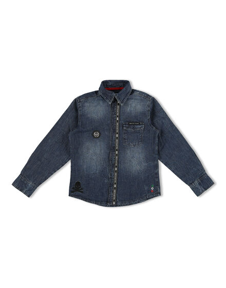Denim Shirt Ls Statement