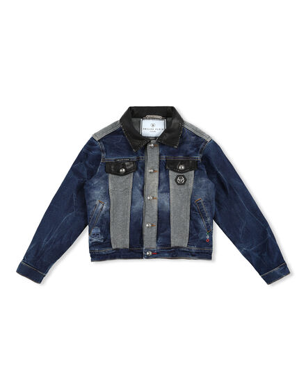 Denim Fleece Jacket Statement