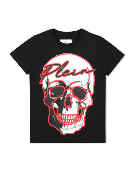 T-shirt Round Neck SS Skull and Plein