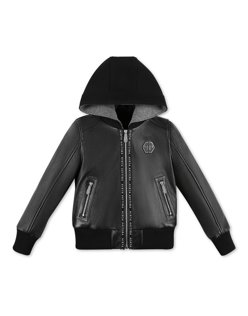 Leather Bomber Istitutional