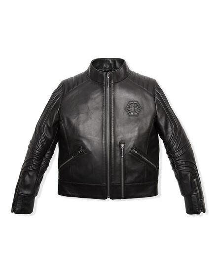 Leather Moto Jacket Relax