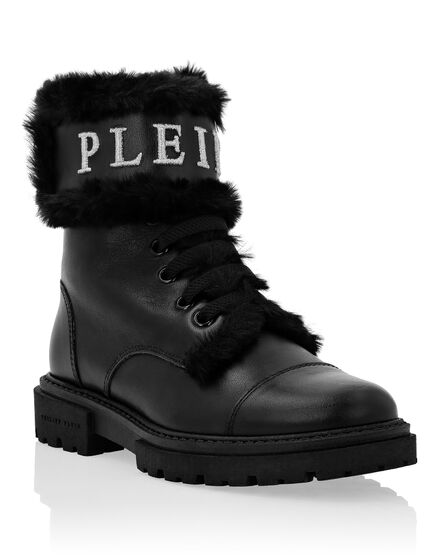 Boots Low Flat Iconic Plein