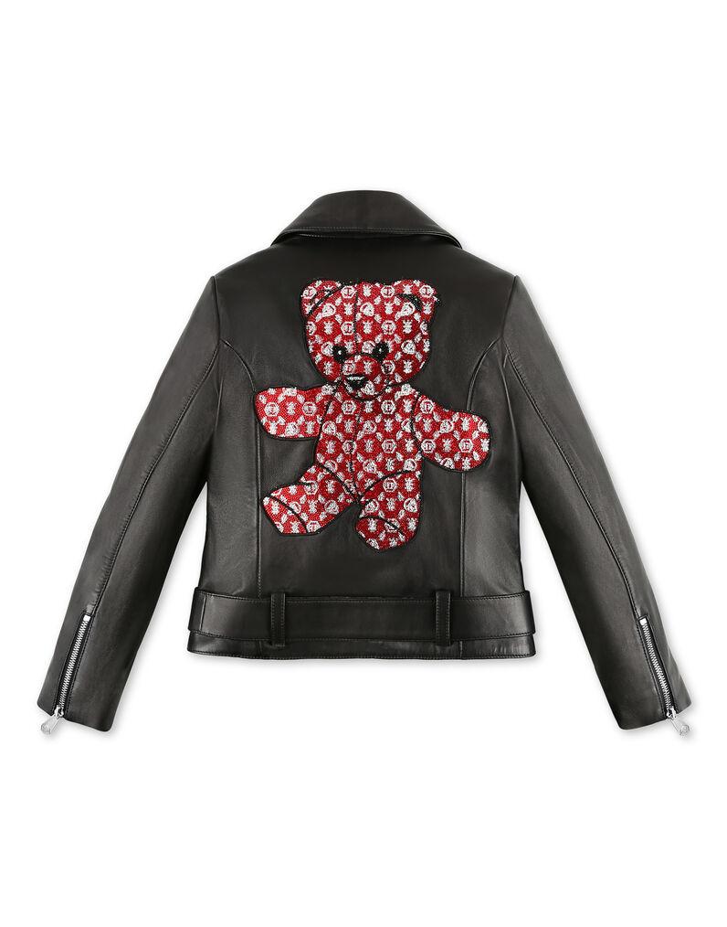 Leather Biker Teddy Bear