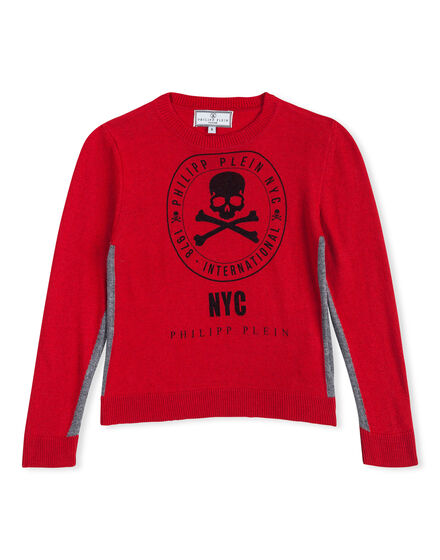 Pullover Round Neck LS Noble Skull