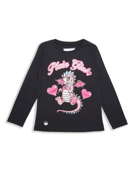 T-shirt Round Neck LS Dragon