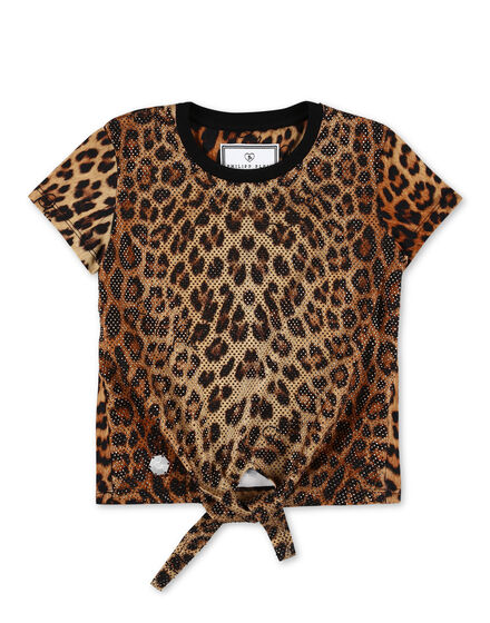 T-shirt Round Neck SS Leopard