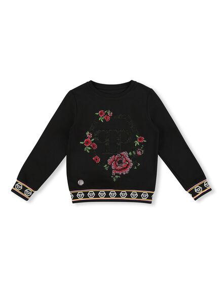 Sweatshirt LS Flowers