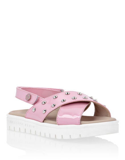 Sandals Flat Iconic Plein