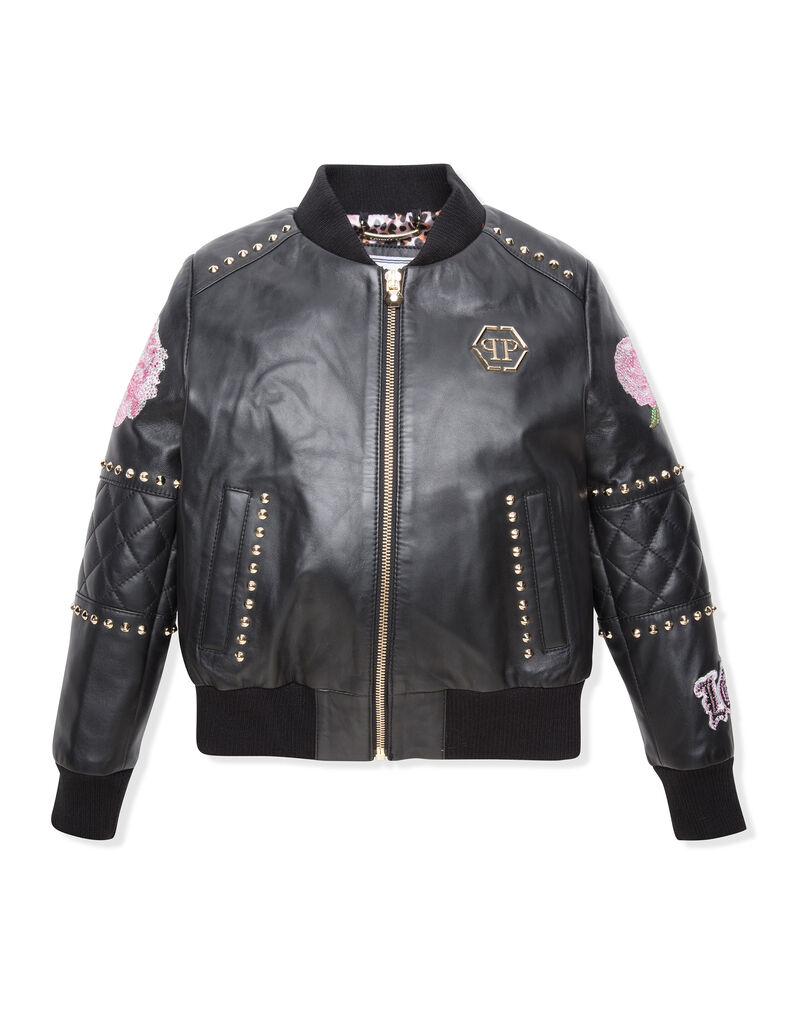"Leather Bomber ""Haze"""